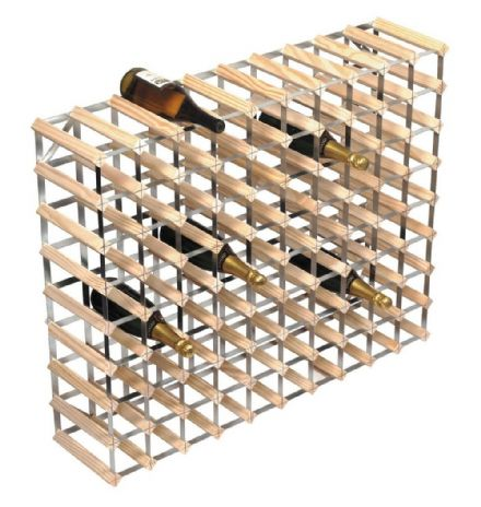 RTA 90 Bottle Natural Pine Wine Rack